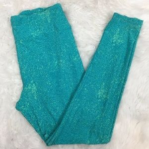 Lularoe Women's Teal Abstract Comfy Yoga Pants